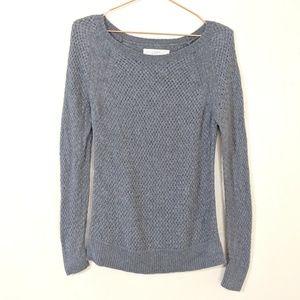 LOFT Sweater Grey Angora Blend Size Medium
